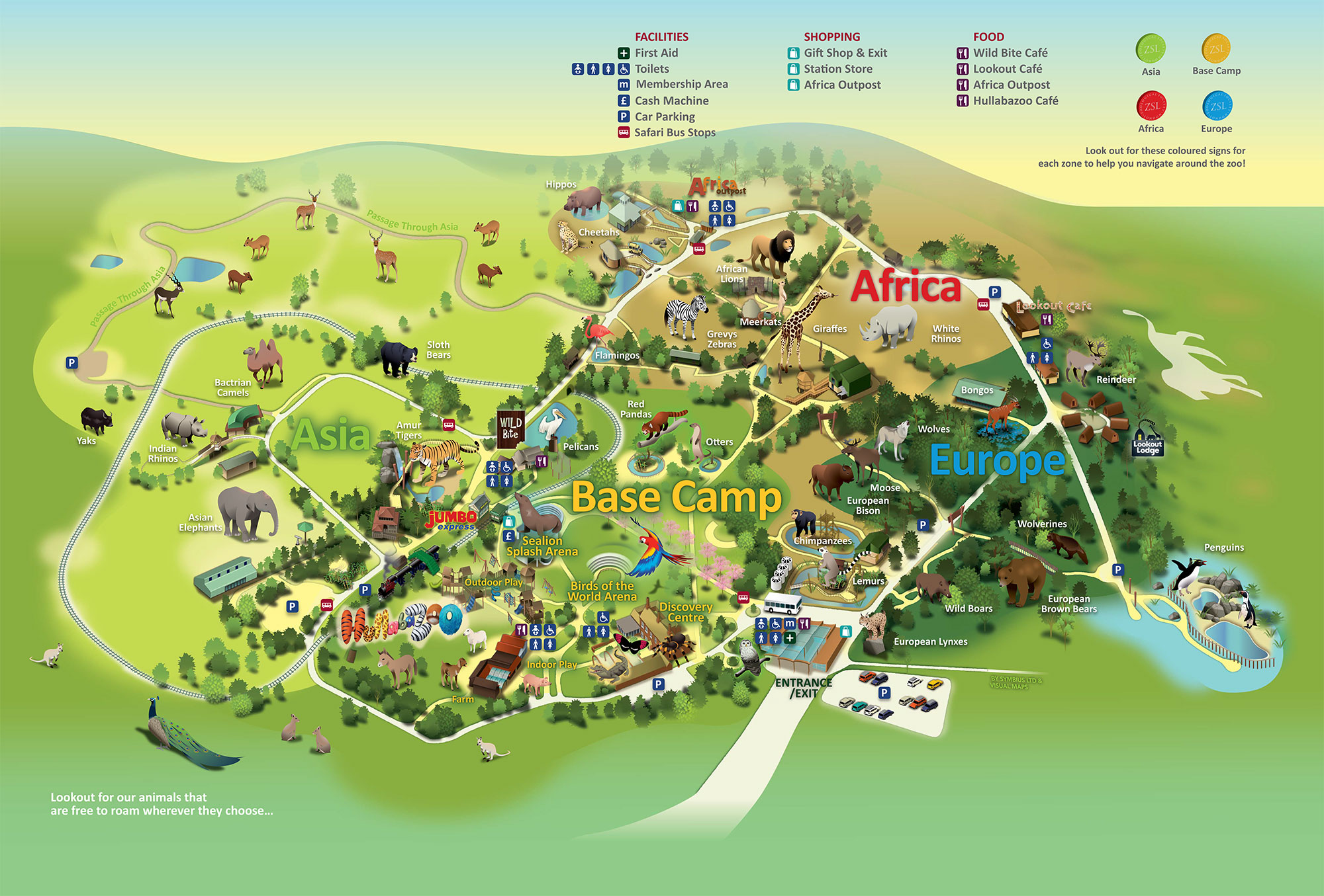 Map Of Zsl Whipsnade Zoo Zoological Society Of London Zsl
