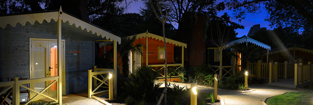 Gir Lion Lodge at ZSL London Zoo - nightime banner image