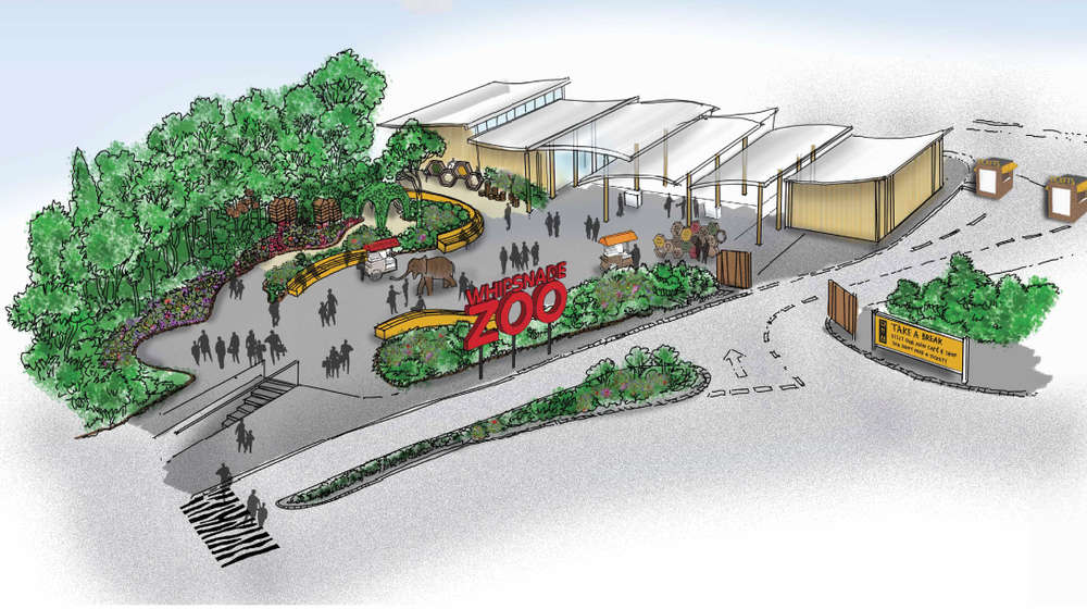 Full view of visitor centre, coming in 2015 to ZSL Whipsnade Zoo