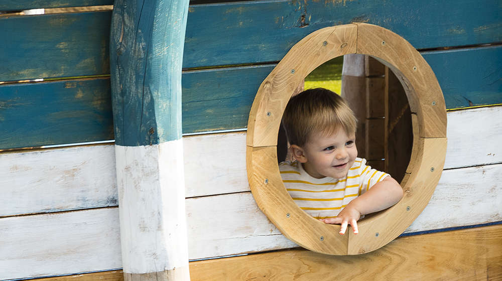 Young boy in Animal Adventure play area at ZSL London Zoo