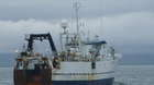 Faroese research vessel Magnus Heinason conducting a seabed survey in northern Iceland led by ZSL scientists Chris Yesson & Kirsty Kemp.