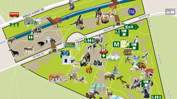 Interactive Map Of London.Zsl London Zoo Smart Phone App Zoological Society Of London Zsl