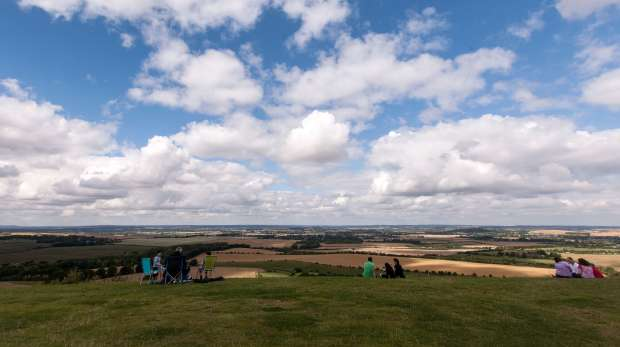 ZSL Whipsnade Zoo downs SSI White Lion overlooking Bedfordshire