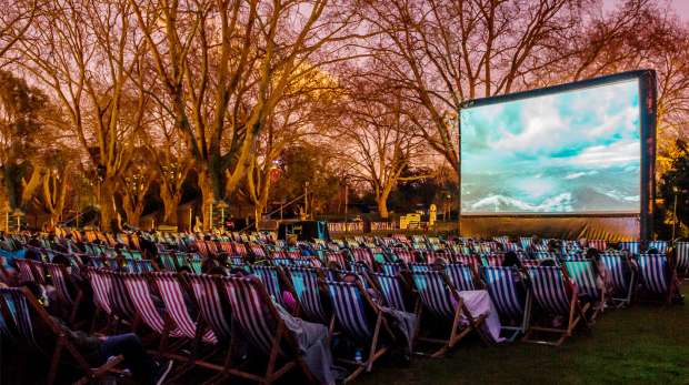Outdoor cinema screening at ZSL London Zoo