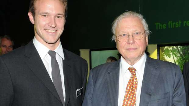Jon Bielby and Sir David Attenborough