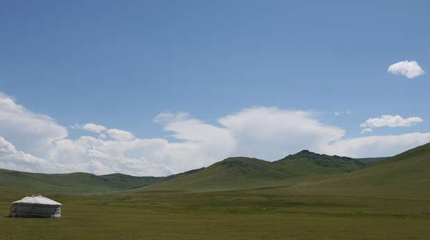 A Ger on teh Mongolia Steppe