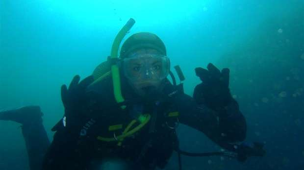 Joanna Barker diving the Canary Islands