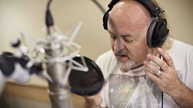 Bill Bailey recording Audible.co.uk's version of Jungle Book