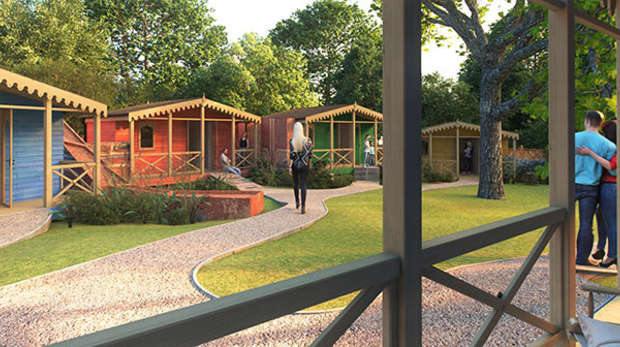 Gir Lion Lodges artist impression