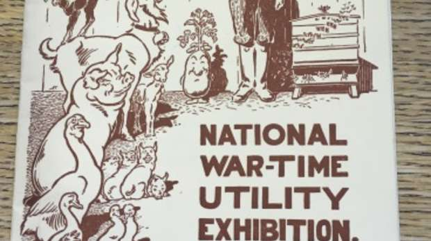 Front cover of War Utility Exhibition booklet, 1940