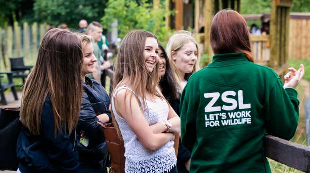 Education session at ZSL Whipsnade Zoo