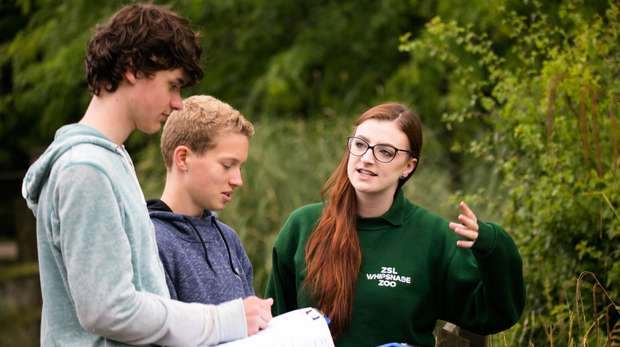 Outdoor education session at ZSL Whipsnade Zoo