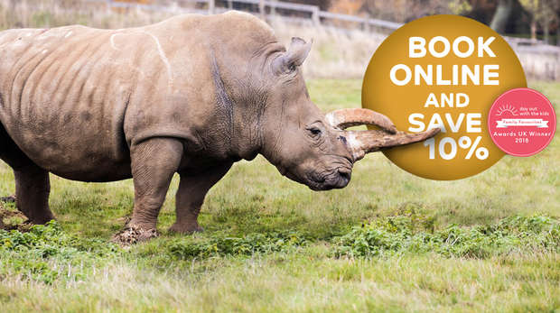 Save 10% when you book online whipsnade