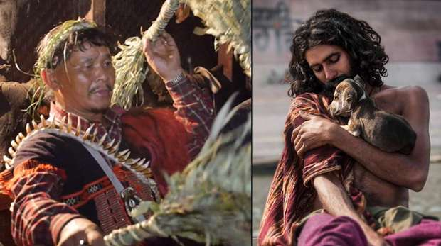 Image - Side-by-side photos of a man in traditional Idu Mishmi clothing and a Bishnoi man holding a puppy