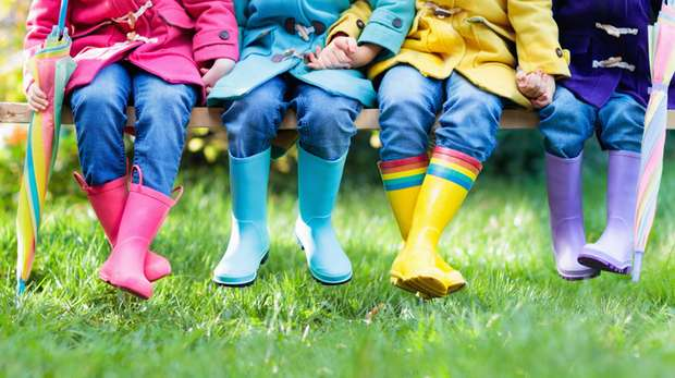 Kids colourful wellies
