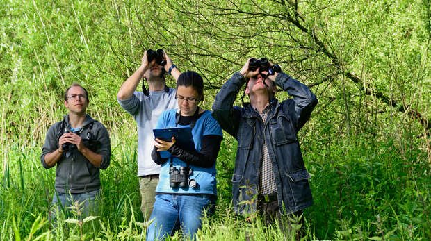 Birdwatchers taking part in Citizen Science © David Tipling, British Trust for Ornithology