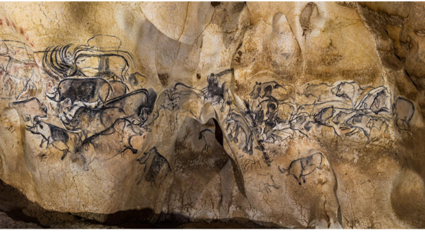 'Lion Panel', c.30,000 B.C. Chauvet-Pont d'Arc Cave, Centre National de Préhistoire, France.