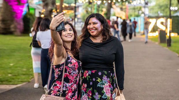 two girls posing for a selfie at ZSL London Zoo