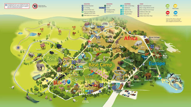 Map of Whipsnade Zoo