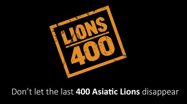Lions 400 logo and message