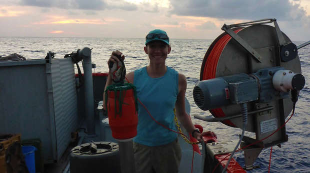 Dr. Kate Adams and microstructure profiler - chagos