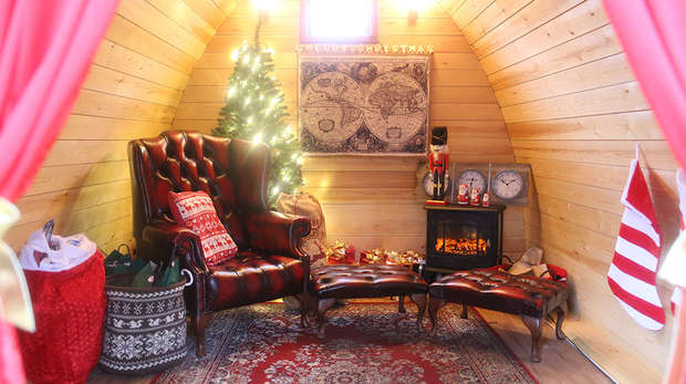 Christmas at ZSL Whipsnade Zoo - Santa's Grotto in Lookout Lodge