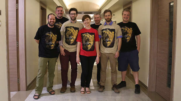 ZSL staff in lion t-shirts