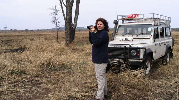 Nathalie Pettorelli IOZ scientist in Serengeti