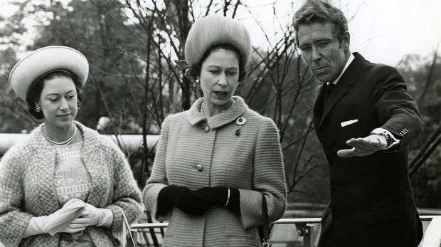 Lord Snowdon visiting the world-renowned Snowdon Aviary with HM The Queen and Princess Margaret in 1967.