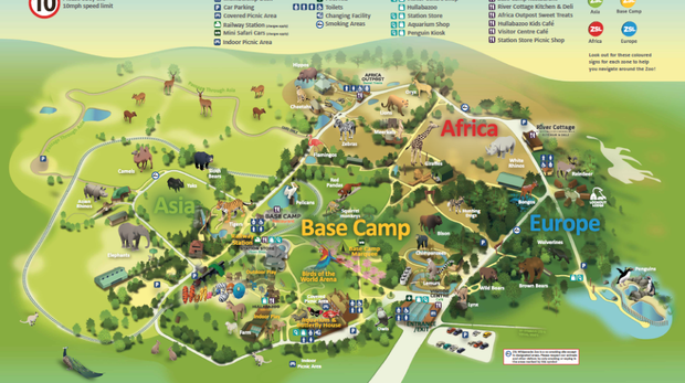 ZSL Whipsnade Zoo map Autumn 2020