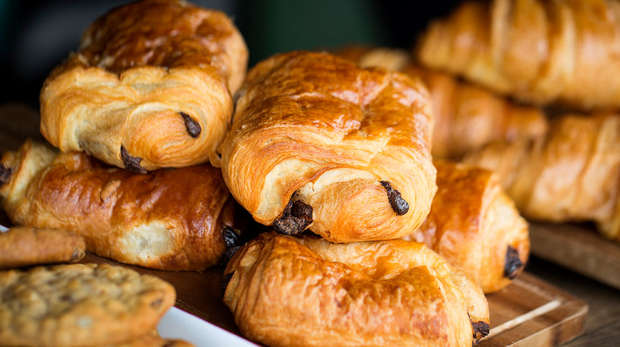 A selection of breakfast pastries