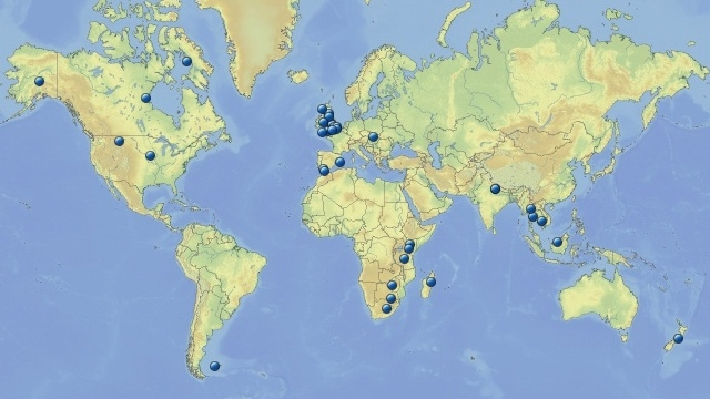 WAB Research Project Locations 2003-2012