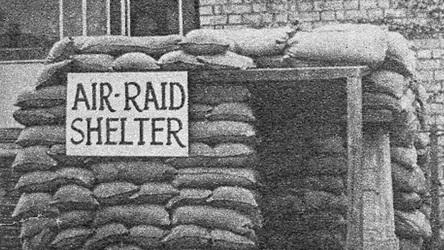 an air raid shelter build in zsl london zoo next to the rodent house