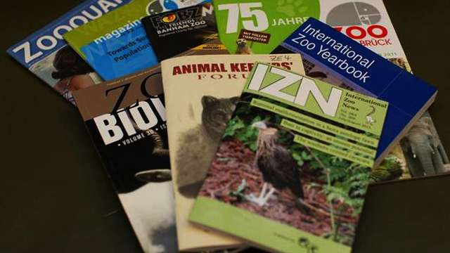 A sample of the magazine collection at ZSL Library