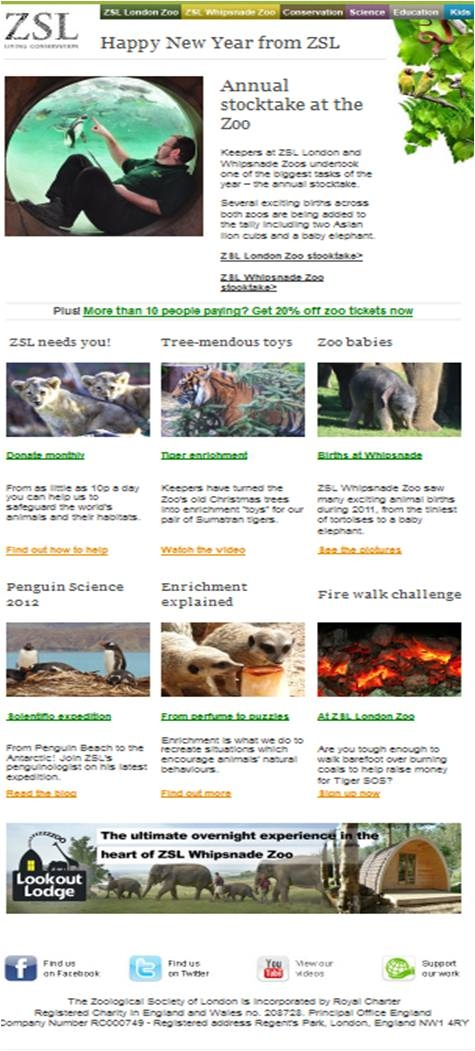 ZSL Newsletter Example