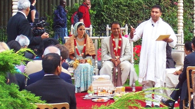 An Asian wedding ceremony at ZSL London Zoo