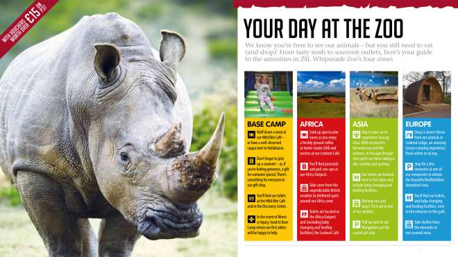 Whipsnade Zoo visitor guidebook