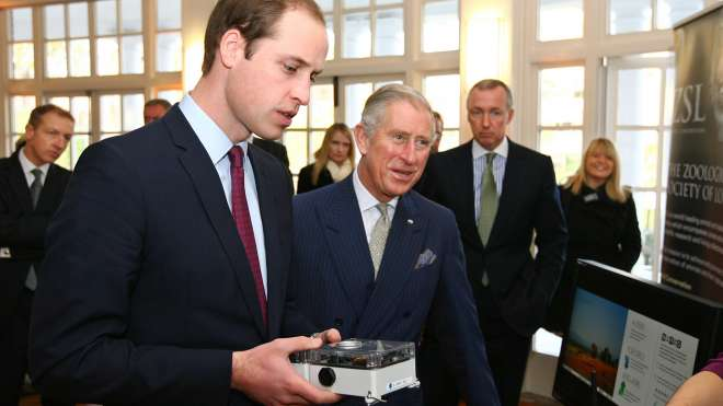 HRH Prince of Wales and Prince of Cambridge visit ZSL London Zoo