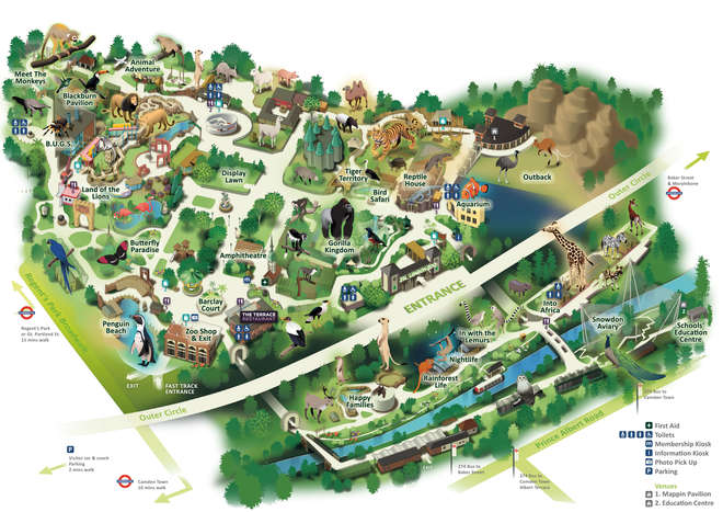 Map of ZSL London Zoo – Map for London