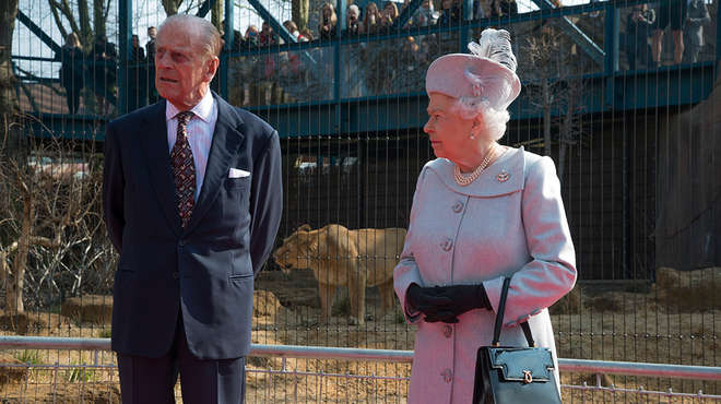 HM The Queen and HRH The Duke at the Royal opening of Land of the Lions