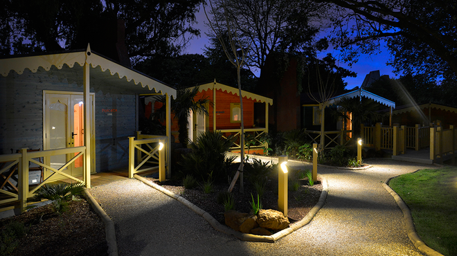 Gir Lion Lodge at ZSL London Zoo at night