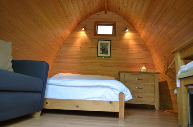 Interior view of a double lodge