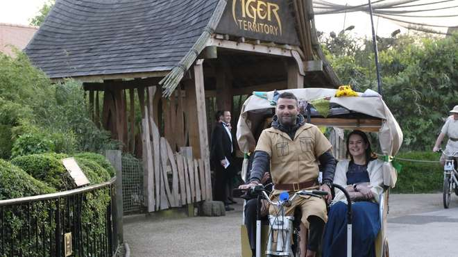 Rickshaw tours whisked guests on a journey around the urban jungle of ZSL London Zoo