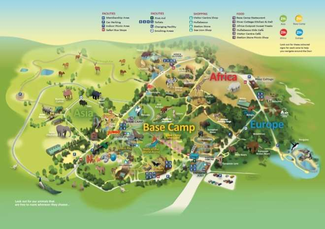 Map of ZSL Whipsnade Zoo image
