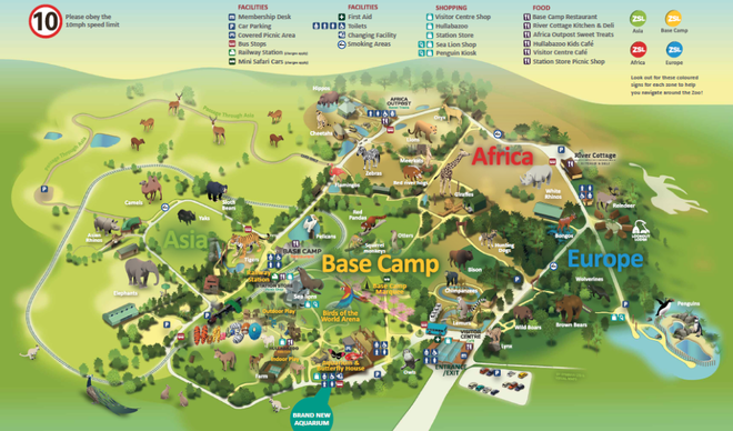 ZSL Whipsnade Zoo map summer 2019