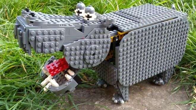 Animation hippo made of lego