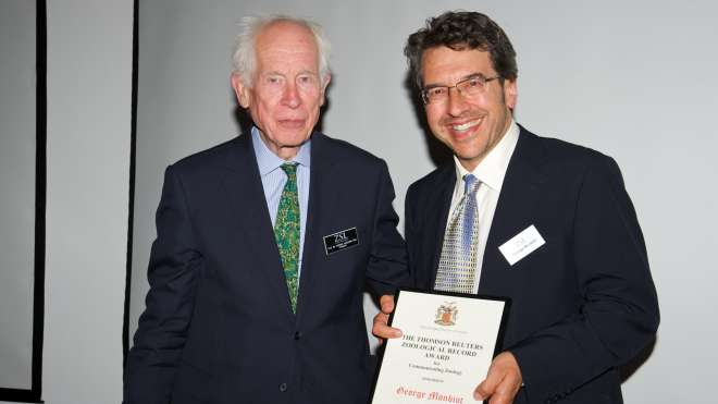 George Monbiot Thomson Reuters Zoological Record Award