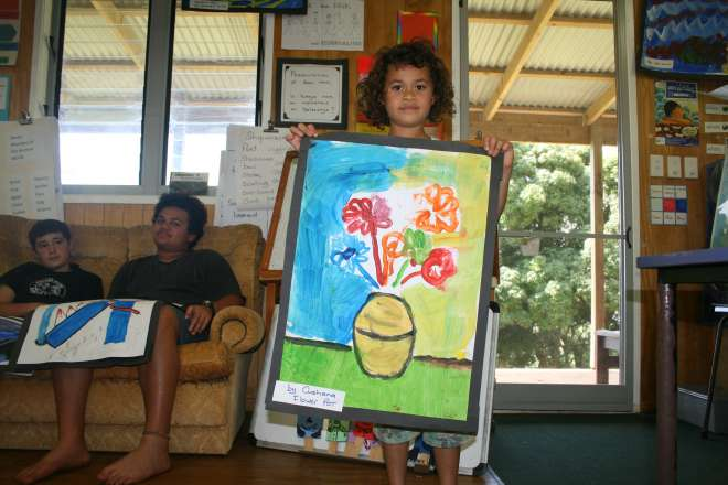 Cushana with her painting