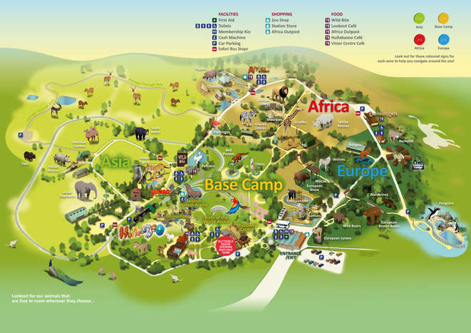 ZSL Whipsnade Zoo Map Spring 2015