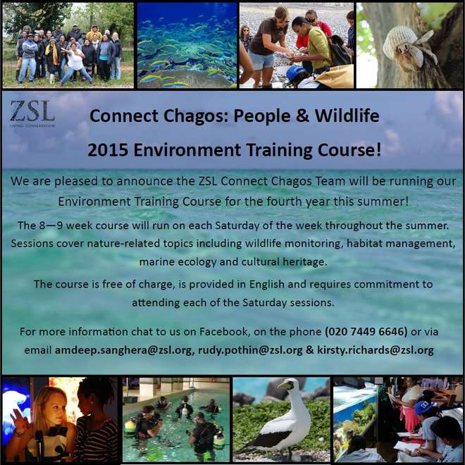 Connect Chagos Environmental Training Course 2015